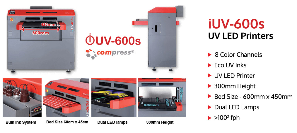 UV LED flatbed printer iUV 600s