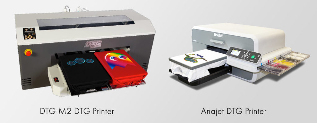 DTG M2 and Anajet DTG T shirt Printers